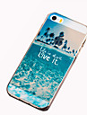 Case For iPhone 5 / Apple iPhone 5 Case Pattern Back Cover Scenery Soft TPU for iPhone SE / 5s / iPhone 5