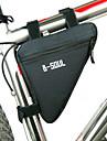 B-SOUL Bolsa de BicicletaBolsa para Quadro de BicicletaZiper a Prova-de-Agua A Prova de Humidade Camurca de Vaca a Prova-de-Choque