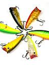 Rybářská - 6 pcs ks - 3D tvrdý plast - Mořský rybolov / Bait Casting / Chytaní přívlačí a rybaření z lodě