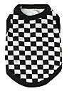 Chat Chien Tee-shirt Vetements pour Chien Tartan Noir Coton Costume Pour les animaux domestiques Homme Femme Mode