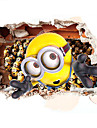 3D Cartoon Despicable Me Minions 3D Wall Stickers Fashion PVC Removable Living Room Bedroom Wall Decals
