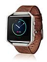Luxury Genuine Leather Buckle Sport Watch Band Wrist Strap For Fitbit Blaze Smart Watch