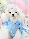 Собака Ремни Одежда для собак Однотонный Лиловый Красный Синий Терилен Костюм Для домашних животных Муж. На каждый день