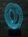 toque de toque abstrato 3d led noite luz 7colorful decoracao atmosfera lampada novidade iluminacao luz