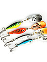 4 pcs Fishing Lures Spoons Metal Sea Fishing Bait Casting Spinning Jigging Fishing Freshwater Fishing General Fishing Lure Fishing Bass