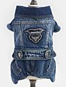 Dog Clothes/Jumpsuit Denim Jacket/Jeans Jacket Dog Clothes Winter Spring/Fall Jeans Cowboy Fashion