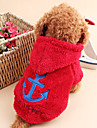 Cat / Dog Hoodie Dog Clothes Sailor Rose / Red / Blue Corduroy Costume For Pets Men\'s / Women\'s Keep Warm