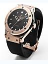 สำหรับผู้หญิง สำหรับคู่รัก ทุกเพศ นาฬิกาแฟชั่น นาฬิกาข้อมือ นาฬิกาอิเล็กทรอนิกส์ (Quartz) ยาง ดำ 30 m / ระบบอนาล็อก ไม่เป็นทางการ - สีดำ สีเงิน Rose Gold