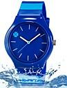 Children's Fashion Lovely Four Leaf Clover Design Casual Wrist Quartz Watch with Plastic Stripe Band Strap Watch
