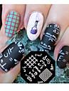 1 pcs Штамповка плиты шаблон Стиль / Мода Дизайн ногтей Модный дизайн Повседневные / Сталь