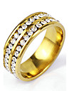 Men's Silver Black Gold Crystal Alloy Band Ring Christmas Gifts