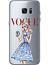 Coque Pour Samsung Galaxy Samsung Galaxy S7 Edge Motif Coque Femme Sexy Flexible TPU pour S7 edge S7 S6 edge plus S6 edge S6