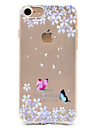Butterflies Pattern TPU High Purity Translucent Openwork Soft Phone Case for iPhone 7 7Plus 6S 6Plus SE 5S 5