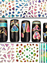 4 Nail Art Sticker 3D Nagelstickers Abstract make-up Cosmetische Nail Art Design