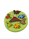 Volcano Dinosaur Silicone Mould Fondant Cup Cake Decoration Sugarcraft Tools Polymer Clay Fimo Color Random