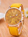 Women\'s Wrist watch Fashion Watch Quartz / Casual Watch PU Band Casual Black White Blue Red Orange Brown Green Pink Purple Khaki Rose