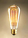 25W Edison ST64 Straight Wire light Bulbs for Sale Edison Art Decoration Light