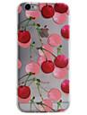 Pour iPhone 8 iPhone 8 Plus iPhone 6 iPhone 6 Plus Coque iPhone 5 Etuis coque Transparente Motif Coque Arriere Coque Fruit Flexible PUT