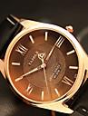 YAZOLE สำหรับผู้ชาย นาฬิกาข้อมือ นาฬิกาอิเล็กทรอนิกส์ (Quartz) PU Leather ดำ / น้ำตาล นาฬิกาใส่ลำลอง เท่ห์ / ระบบอนาล็อก คลาสสิก ไม่เป็นทางการ แฟชั่น - สีดำ สีน้ำตาล