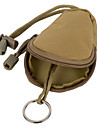 FURA Oxford Fabric  Coin Purse Key Bag with Lanyard - Black  / Khaki