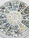 смешанные размеры белый кристаллический нейл-арта стразы акриловые AB ювелирные изделия блестящий дизайн маникюра