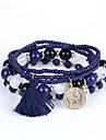 Men\'s Women\'s Strand Bracelet Bracelet Fashion Beaded Multi Layer Luxury Acrylic Resin Imitation Diamond Jewelry For Wedding Anniversary
