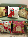 1 pcs Cotton/Linen Pillow Case, Holiday Accent/Decorative