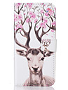 For Samsung Galaxy S5 S6 S7 S6edge S7edge Card Holder Flip Color  Deer Pattern Case Full Body Case Hard PU Leather