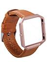 Retro Genuine Leather WatchBand Wrist Strap Bracelet  Frame for Fitbit Blaze