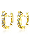 AAA Cubic Zirconia Earrings Jewelry Women Daily Casual Zircon Copper Gold Plated 1 pair Yellow Gold