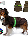 Dog Rain Coat Vest Dog Clothes Waterproof LED Solid Black Brown Blue