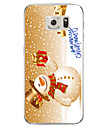 For Samsung Galaxy S7 S7 Edge Christmas Snowman TPU Soft Case Cover S6 Edge Plus