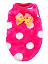 Кошка Собака Футболка Пижамы Одежда для собак Горошек Розовый Синий Розовый Белый/Черный Вельвет-корд Костюм Для домашних животных Муж.