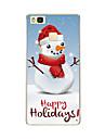 Pour Motif Coque Coque Arriere Coque Noel Flexible PUT pour Huawei Huawei P9 Huawei P9 Lite Huawei P8 Huawei P8 Lite