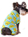 Cat Dog Jumpsuit Pajamas Dog Clothes Cute Casual/Daily Cartoon Yellow Red Blue Pink Blue-Yellow Costume For Pets