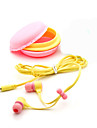 In Ear Wired Headphones Plastic Mobile Phone Earphone with Microphone Noise-isolating Headset