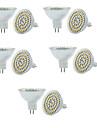 3W GU5.3(MR16) LED-spotpaerer MR16 60 SMD 3528 250-300 lm Varm hvit Kjoelig hvit 3000/6000 K Mulighet for demping Dekorativ V
