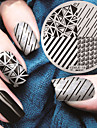 Manicure Circular Plate Shape Triangle Blue Membrane DIY Stamp Printing Template