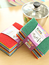 10PCS Scouring Pad  Wash The Dishes Cleaner Decontamination (Random Colours)