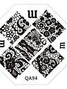 1pcs Stamping Plate Fashion Daily