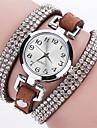 Femme Bracelet de Montre Montre Diamant Simulation Montre Tendance Montre Bracelet Quartz Imitation de diamant Punk Colore Polyurethane