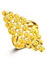 18k Gold Ring Non Stone Wedding / Party / Daily / Casual Jewelry Gold Women Ring 1pc One Size Adjustable Gold / Silver