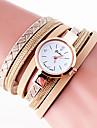 Women\'s Quartz Wrist Watch Bracelet Watch Colorful PU Band Charm Vintage Casual Bohemian Fashion Cool Bangle Black White Blue Grey Gold