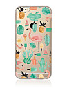 Capinha Para Apple iPhone X iPhone 8 Plus iPhone 7 iPhone 6 Capinha iPhone 5 Translucido Estampada Capa Traseira Flamingo Macia TPU para