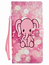 For Sony Xperia XA Ultra X Performance Case Cover Pink Elephant Painted Lanyard PU Phone Case