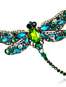 Women\'s Brooches - Crystal Fashion Brooch Red / Green / Blue For Wedding / Party / Daily
