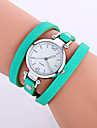 Women\'s Fashion Watch Wrist watch Bracelet Watch Punk Colorful Quartz Leather Band Candy color Bohemian Charm Bangle Cool CasualBlack Strap Watch