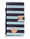 화웨이 p8 lite p9 케이스 커버 줄무늬 사랑 패턴 그림 카드 스텐 트 pu 가죽