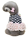 Σκύλος Φορέματα Ρούχα για σκύλους Πουά Σκούρο μπλε Ροζ Βαμβάκι Στολές Για κατοικίδια Γυναικεία Χαριτωμένο