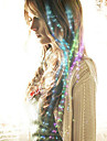 optikai szálas vezető hajtű menyasszony haj fejvédő a párt színezett 40cm